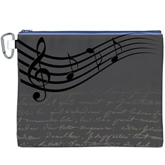 Music Clef Background Texture Canvas Cosmetic Bag (XXXL)