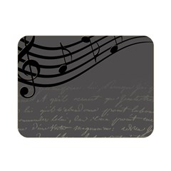 Music Clef Background Texture Double Sided Flano Blanket (Mini)
