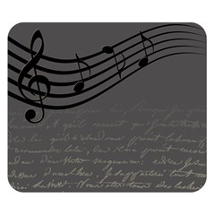 Music Clef Background Texture Double Sided Flano Blanket (small)
