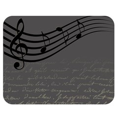 Music Clef Background Texture Double Sided Flano Blanket (medium)
