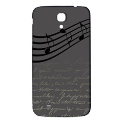 Music Clef Background Texture Samsung Galaxy Mega I9200 Hardshell Back Case