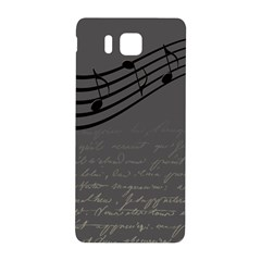 Music Clef Background Texture Samsung Galaxy Alpha Hardshell Back Case