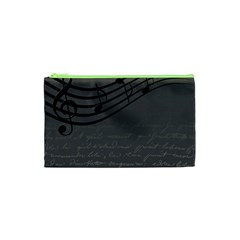 Music Clef Background Texture Cosmetic Bag (xs)