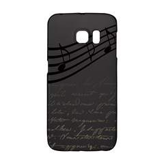 Music Clef Background Texture Galaxy S6 Edge