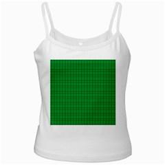 Pattern Green Background Lines White Spaghetti Tank