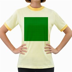 Pattern Green Background Lines Women s Fitted Ringer T Shirts