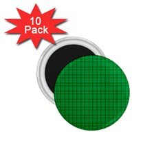 Pattern Green Background Lines 1.75  Magnets (10 pack)