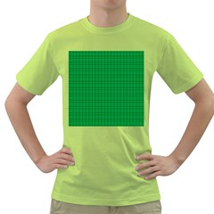 Pattern Green Background Lines Green T Shirt