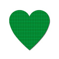 Pattern Green Background Lines Heart Magnet