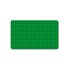Pattern Green Background Lines Magnet (Name Card)