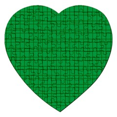 Pattern Green Background Lines Jigsaw Puzzle (Heart)