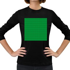 Pattern Green Background Lines Women s Long Sleeve Dark T-Shirts