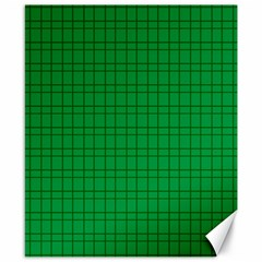 Pattern Green Background Lines Canvas 8  x 10