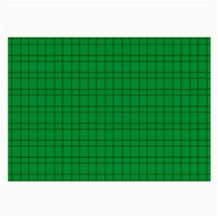 Pattern Green Background Lines Large Glasses Cloth (2 Side)