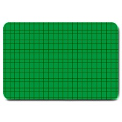 Pattern Green Background Lines Large Doormat