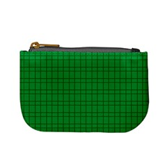 Pattern Green Background Lines Mini Coin Purses