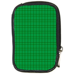 Pattern Green Background Lines Compact Camera Cases