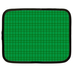 Pattern Green Background Lines Netbook Case (xl)