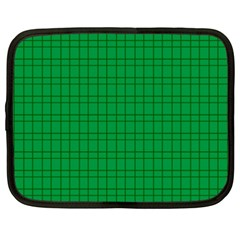 Pattern Green Background Lines Netbook Case (xxl)
