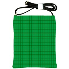 Pattern Green Background Lines Shoulder Sling Bags