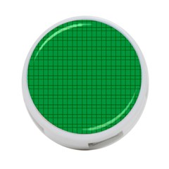 Pattern Green Background Lines 4-Port USB Hub (Two Sides)