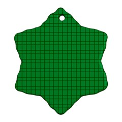 Pattern Green Background Lines Snowflake Ornament (two Sides)