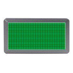 Pattern Green Background Lines Memory Card Reader (mini)