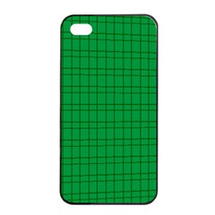 Pattern Green Background Lines Apple iPhone 4/4s Seamless Case (Black)