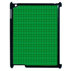 Pattern Green Background Lines Apple iPad 2 Case (Black)