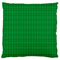 Pattern Green Background Lines Large Cushion Case (one Side)