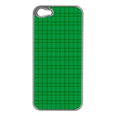 Pattern Green Background Lines Apple Iphone 5 Case (silver)