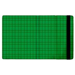 Pattern Green Background Lines Apple iPad 2 Flip Case