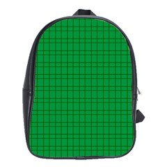 Pattern Green Background Lines School Bags (XL)