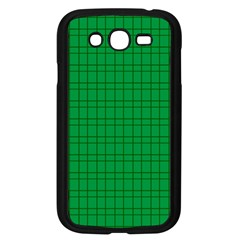 Pattern Green Background Lines Samsung Galaxy Grand DUOS I9082 Case (Black)