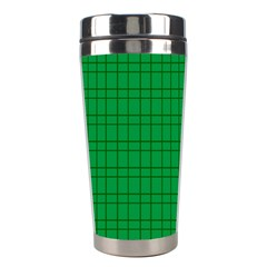 Pattern Green Background Lines Stainless Steel Travel Tumblers