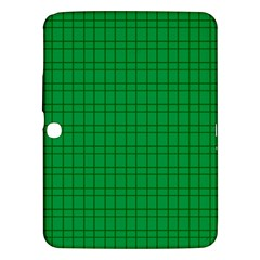 Pattern Green Background Lines Samsung Galaxy Tab 3 (10.1 ) P5200 Hardshell Case