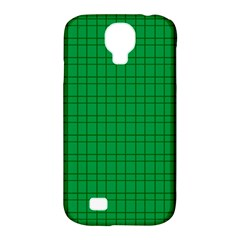 Pattern Green Background Lines Samsung Galaxy S4 Classic Hardshell Case (PC+Silicone)