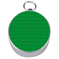 Pattern Green Background Lines Silver Compasses