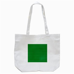 Pattern Green Background Lines Tote Bag (White)
