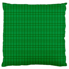 Pattern Green Background Lines Standard Flano Cushion Case (One Side)