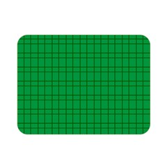 Pattern Green Background Lines Double Sided Flano Blanket (mini)