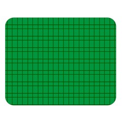 Pattern Green Background Lines Double Sided Flano Blanket (Large)