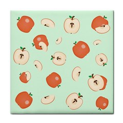 Apple Fruit Background Food Tile Coasters