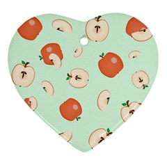 Apple Fruit Background Food Ornament (Heart)