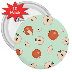 Apple Fruit Background Food 3  Buttons (10 pack)