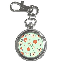 Apple Fruit Background Food Key Chain Watches