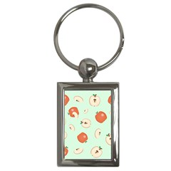 Apple Fruit Background Food Key Chains (Rectangle)