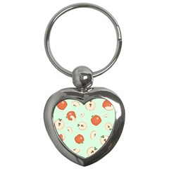 Apple Fruit Background Food Key Chains (heart)