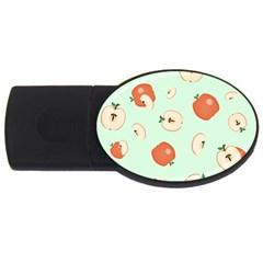 Apple Fruit Background Food USB Flash Drive Oval (1 GB)