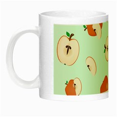 Apple Fruit Background Food Night Luminous Mugs